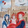 Tortoreto: presentazione del 18° Drappo disegnato dall'artista senese Caterina Moscadelli