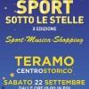 """Teramo: sabato 22 Settembre appuntamento con """"Sport sotto le stelle"""""""