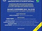 """Valle Castellana ospita l'incontro """"La rinascita dell'agricoltura abruzzese dopo le calamità naturali"""""""