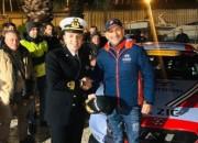 La Guardia Costiera di Giulianova riceve il pilota Gabriele Tarquini
