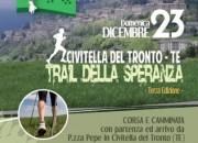 A Civitella il 23 dicembre 3° Trail della Speranza