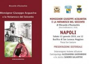 """A Napoli presentazione del libro """"Monsignor Giuseppe Acquaviva e la Notaresco del Seicento"""""""